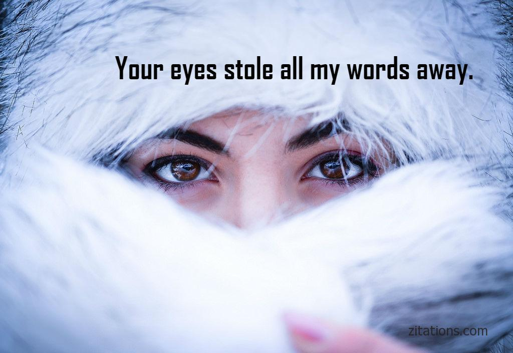 Beautiful Eye Quotes For Her - Romantic Messages - Zitations
