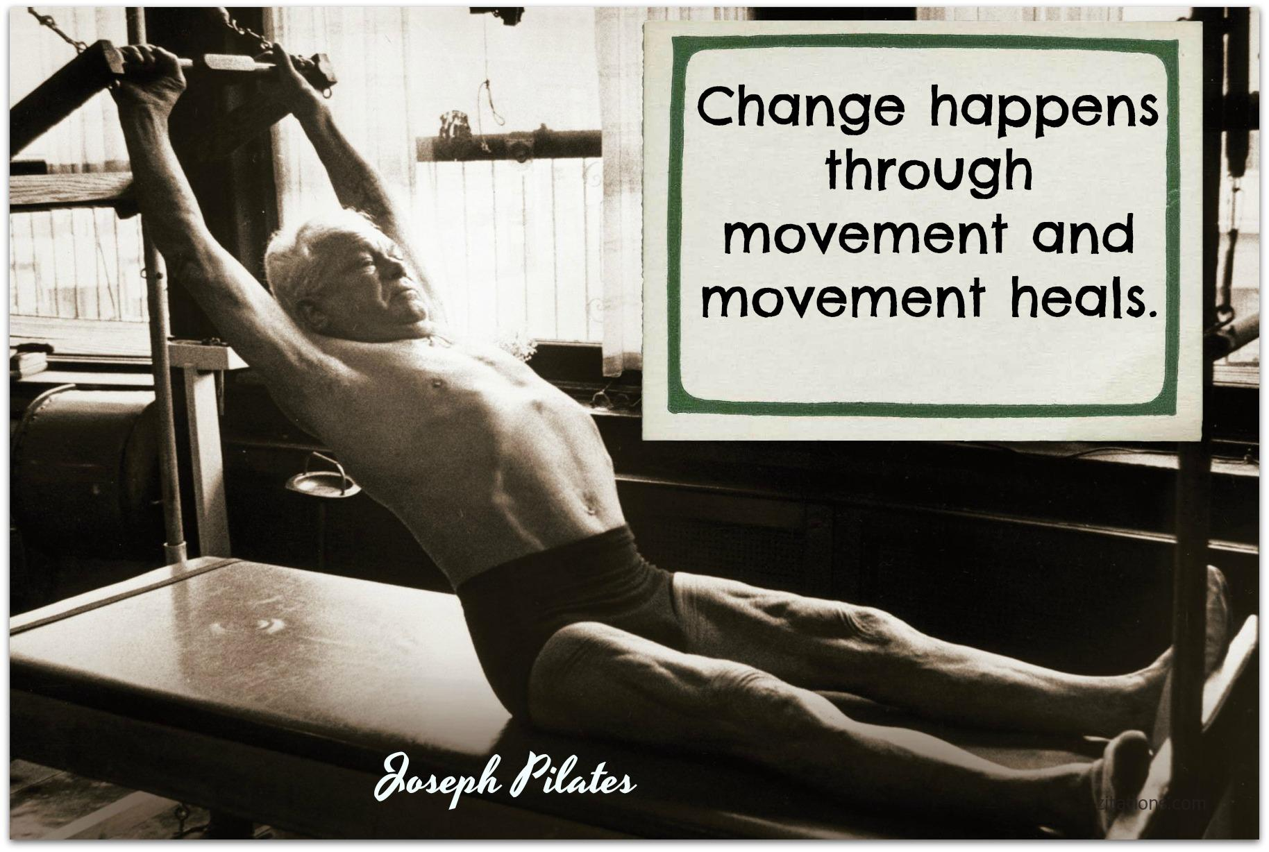 Joseph Pilates on exercises
