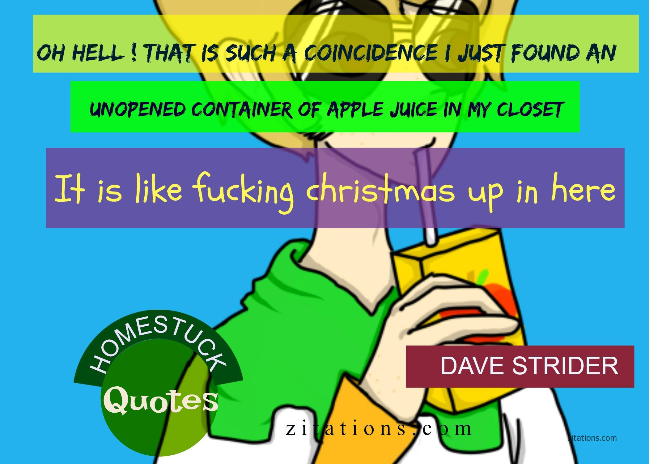 Homestuck Quotes - Dave Strider