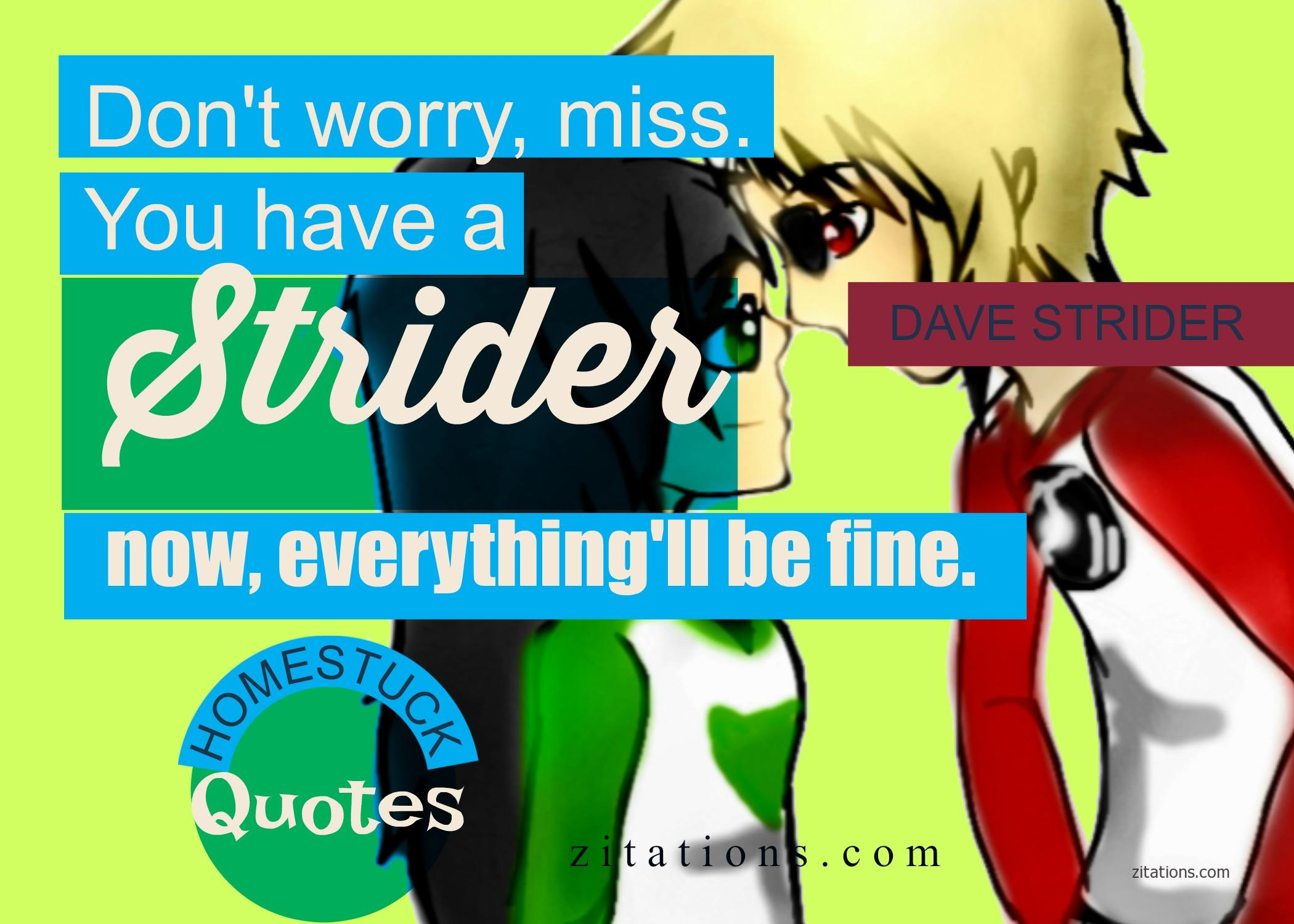 Romantic Dave Strider Quote