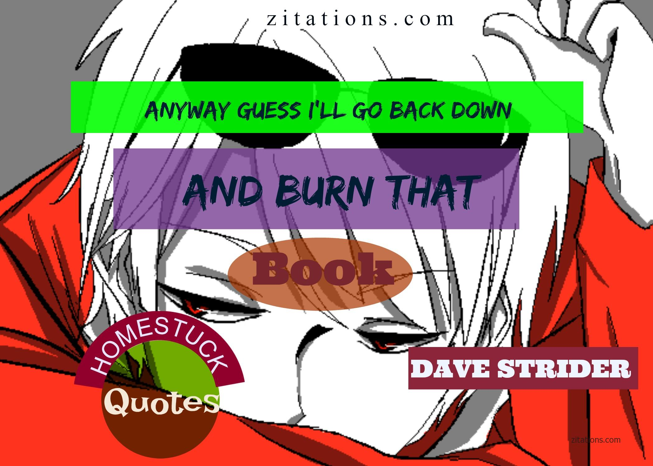 Dave Strider - Homestuck Quotes