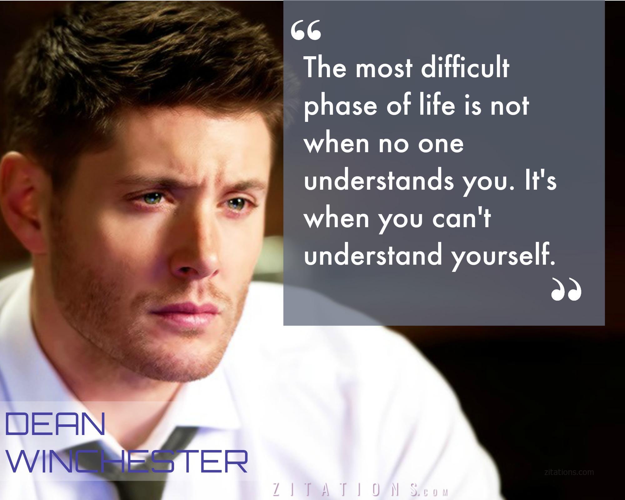 Sad Dean Quote