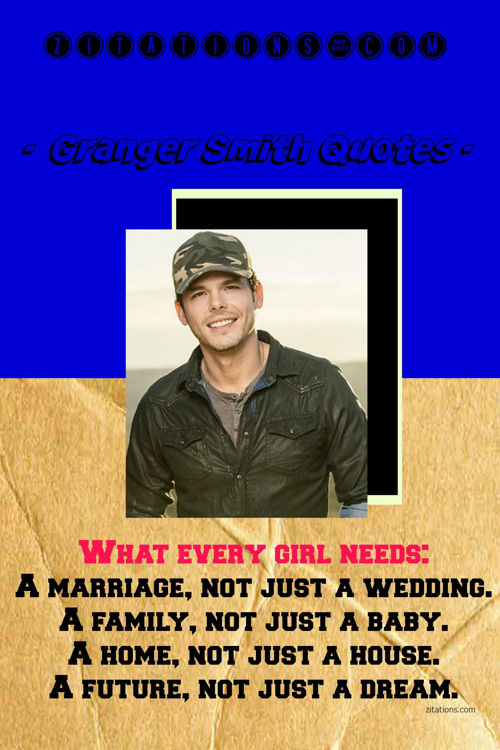 Granger Smith Quotes on girls